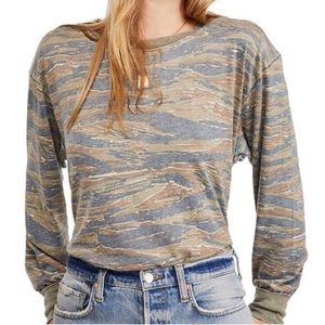 Free People We The Free Tiger Combo Long Sleeve M